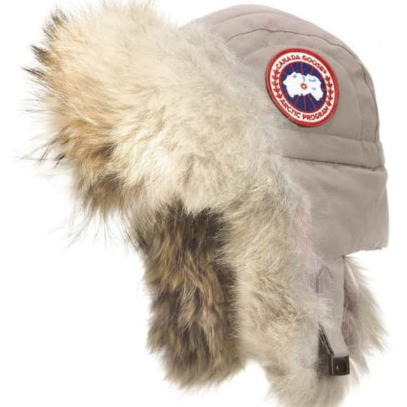 61a25876bd6 SALE**Canada Goose Aviator Hat w/Coyote Fur NWT